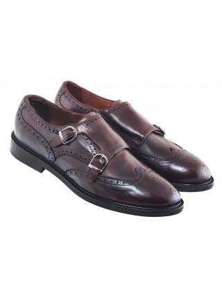 20629 MANOVIE TOSCANE (Italy) cesta vitello tuffato туфли-броги кожаные коричневые