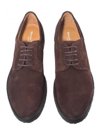 20634 MANOVIE TOSCANE cesta velour t.moro туфли замшевые коричневые