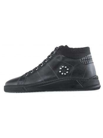 20636 JOHN RICHARDO 13070 BLACK кеды кожаные черные
