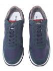 Кроссовки мужские кожаные TRUSSARDI (China) 20638 Синие/мультиколор