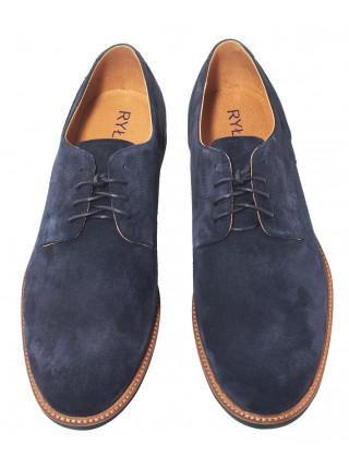 Туфли замшевые мужские RYLKO (Poland) 20640 синие