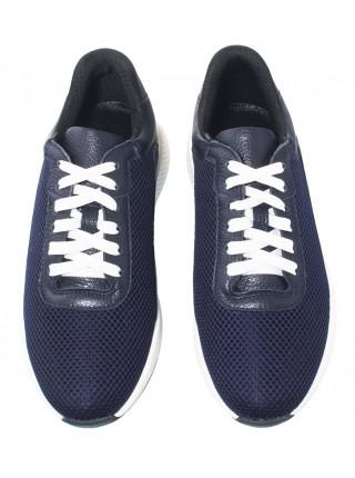 Кроссовки кожаные текстильные мужские RYLKO (Poland) 20641 синие