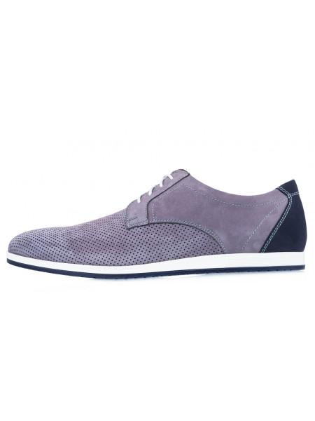 Туфли нубуковые мужские RYLKO (Poland) 20644 серые