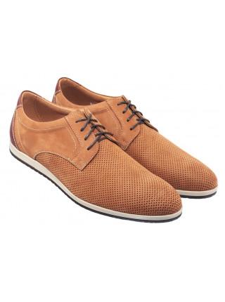 Туфли нубуковые мужские RYLKO (Poland) 20645 коричневые