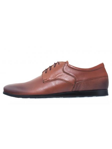 Туфли кожаные мужские RYLKO (Poland) 20653 коричневые