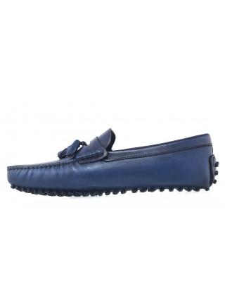 Мокасины кожаные SIGOTTO UOMO (Turkey) 7200 синие 20657