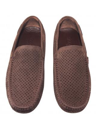 Мокасины замшевые SIGOTTO UOMO (Turkey) 5058 коричневые 20661