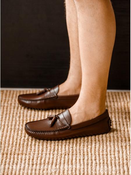 Мокасины кожаные SIGOTTO UOMO (Turkey) 7200 коричневые 20662