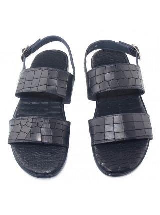 Сандали кожаные JOHN RICHARDO (Turkey) 20670 синие