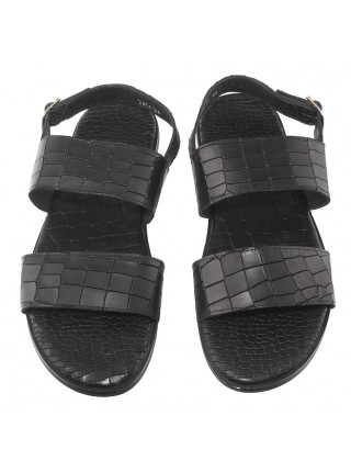 Сандали кожаные JOHN RICHARDO (Turkey) 20674 чёрные