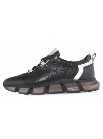 Кроссовки кожаные SIGOTTO UOMO (Turkey) 20682 чёрные