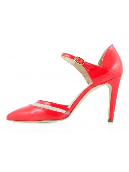 10029 GUBAN (Romania) Туфли Открытые Лаковые Красные