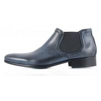Ботинки осенние кожаные DASTHON (ИТАЛИЯ) 2297 темно-синие
