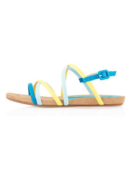 10046 XSA (Italy) Босоножки Желтые-Голубые-Синие
