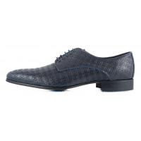 Туфли кожаные OFFICINE FIORENTINE (ИТАЛИЯ) 2313 темно-синие