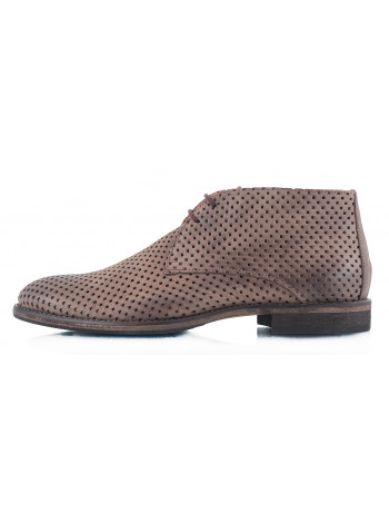 Ботинки осенние нубуковые сетка сквозная OFFICINE FIORENTINE (ИТАЛИЯ) 2315 коричневые