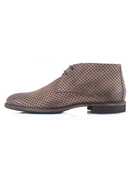 2315 OFFICINE FIORENTINE (Italy) Ботинки сетка нубук коричневые