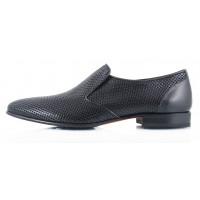 Туфли кожаные сетка несквозная ROBERTO di PAOLO (ИТАЛИЯ) 2326 черные