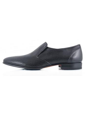 Туфли кожаные сетка несквозная ROBERTO di PAOLO (Italy) 2326 черные