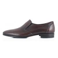 Туфли кожаные сетка несквозная ROBERTO di PAOLO (Italy) 2327 коричневые