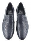 Туфли кожаные сетка несквозная ROBERTO di PAOLO (Italy) 2328 темно-синие