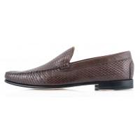 Мокасины кожаные PATRIZIO DOLCI (ИТАЛИЯ) 2357 темно-коричневые