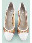 10136 1,618 (Italy) Туфли Сетка Бело-Разноцветные