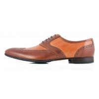 Туфли-броги кожаные CONHPOL DYNAMIC (Poland ) 2341 коричневые