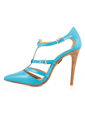 10186 J.J.HEITOR SHOES (Portugal) Туфли открытые голубые