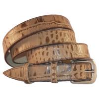 Ремень кожаный лак 2,0см MAX (РОССИЯ) 4024