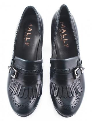 Туфли кожаные MALLY (ИТАЛИЯ) 10270 темно-зеленые