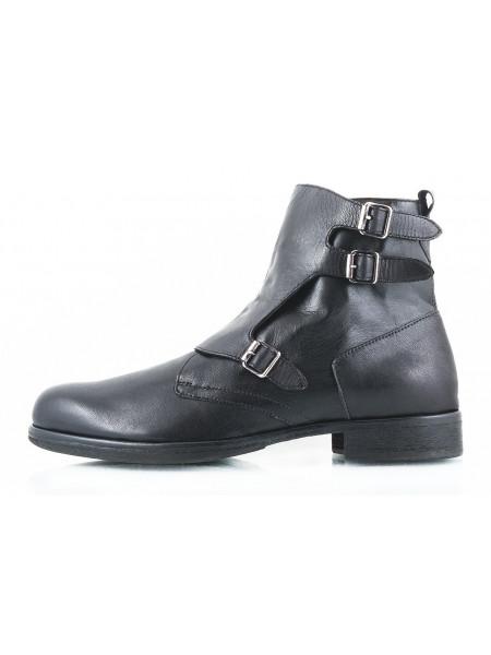 Ботинки осенние кожаные ADOLFO CARLI (ИТАЛИЯ) 2397 черные