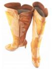 10324 GUBAN (Romania) Сапоги осенние замшево-кожаные светло-коричневые