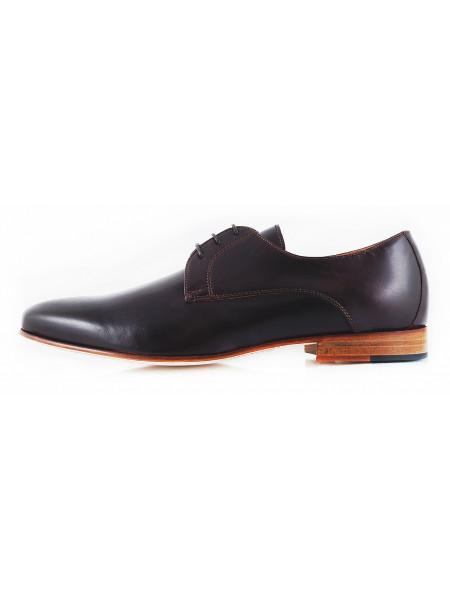 Туфли кожаные ADOLFO CARLI (ИТАЛИЯ) 2568 темно-коричневые