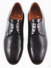 2568 ADOLFO CARLI (Italy) Туфли кожаные темно-коричневые