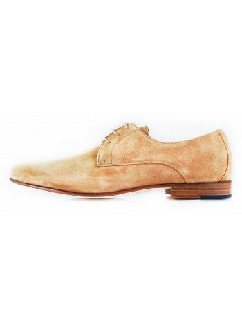 2569 ADOLFO CARLI (Italy) Туфли замшевые бежевые