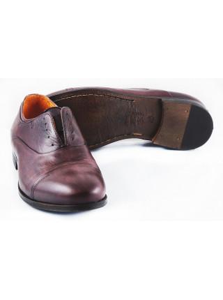 2570 DASTHON (Italy) Туфли кожаные темно-коричневые