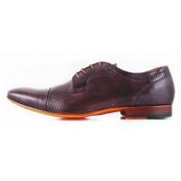 2572 DASTHON (Italy ) Туфли кожаные темно-коричневые сетка несквозная