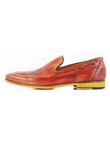 Туфли кожаные DASTHON (ИТАЛИЯ) 2573 коричневые