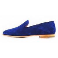 Туфли замшевые PATRIZIO DOLCI (ИТАЛИЯ) 2577 темно-синие