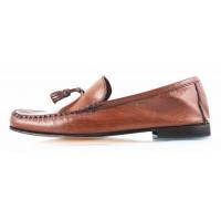 Лоферы кожаные ROBERT'S (ИТАЛИЯ) 2599 коричневые