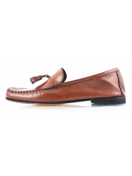 2599 ROBERT'S (Italy) Лоферы кожаные коричневые
