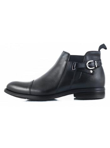 2628 CONHPOL (Poland ) Ботинки зимние кожаные черные