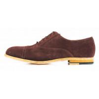 2635 ADOLFO CARLI (Italy) Туфли замшевые коричневые