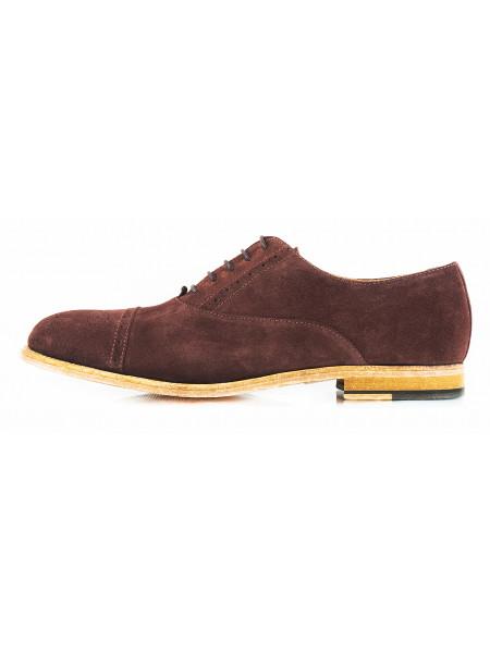 Туфли замшевые ADOLFO CARLI (ИТАЛИЯ) 2635 коричневые