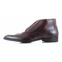2640 ADOLFO CARLI (Italy) Ботинки-броги осенние кожаные коричневые