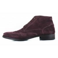2641 ADOLFO CARLI (Italy) Ботинки-броги осенние замшевые темно-коричневые