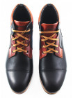 Ботинки-спорт осенние кожаные CONHPOL DYNAMIC (Poland ) 2686 черно-коричневые