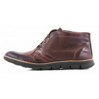 Ботинки осенние кожаные STORM (Portugal) 2711 темно-коричневые