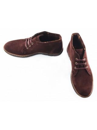 2712 STORM (Portugal) Ботинки осенние замшевые коричневые